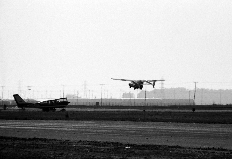 ADVANCE VEHICLE ENGINEERS (AVE) MIZAR<br /> Oxnard Airport - August 1973<br /> <br /> And I even got one of the Mizar taking off! What a coup this was!!! It's too bad I had to take it with my crappy old Vivitar 90-230mm telephoto zoom lens, but I got it anyway. There are few -- if any -- shots of this thing in the air.