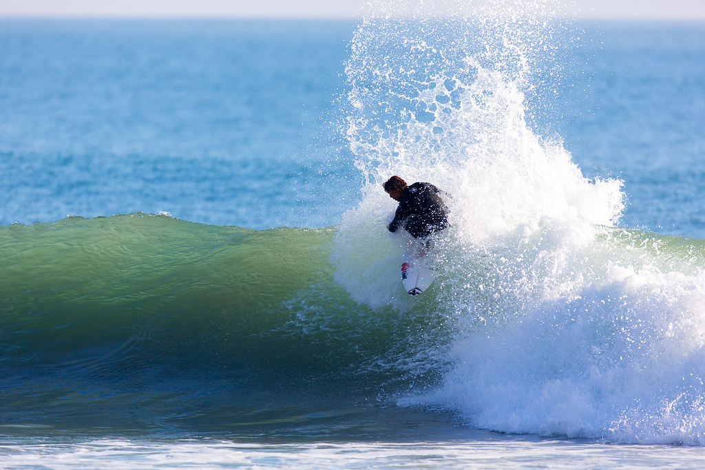 Surfing  at Rincon,USA <br /> Date: Jan 20, 2014<br /> Time: 07:22.PM<br /> Model: Canon EOS 5D Mark III<br /> Lens: EF600mm f/4L IS USM