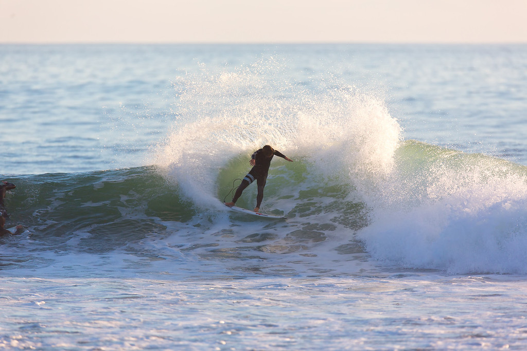 Surfing  at Rincon,USA <br /> Date: Jan 20, 2014<br /> Time: 08:30.PM<br /> Model: Canon EOS 5D Mark III<br /> Lens: EF600mm f/4L IS USM