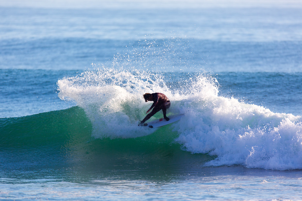 Surfing  at Rincon,USA <br /> Date: Jan 22, 2014<br /> Time: 07:54.PM<br /> Model: Canon EOS 5D Mark III<br /> Lens: EF600mm f/4L IS USM