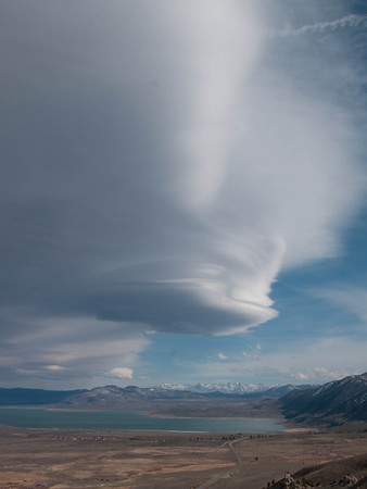 Lenticular Clouds over Mono Lake
