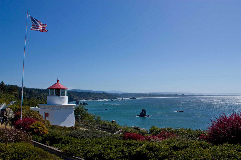 A beautiful day at the Trinidad Head Lighthouse.<br /> Photo © Carl Clark