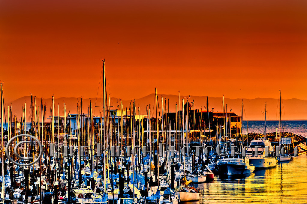 Sunset at Santa Cruz Yacht Harbor