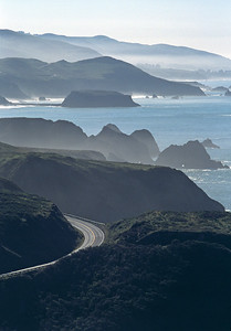 Road to Paradise California Coast. 天堂之路 加州海岸