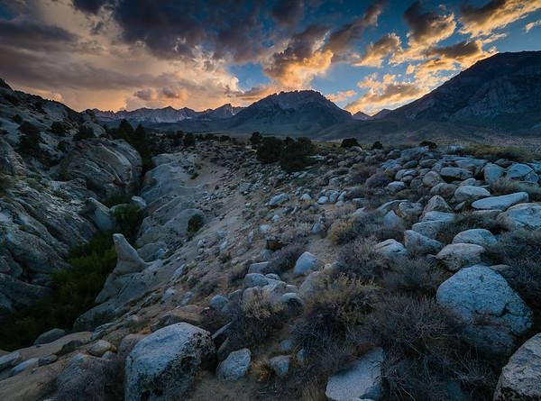 Sunset over the Eastern Sierra Nevada