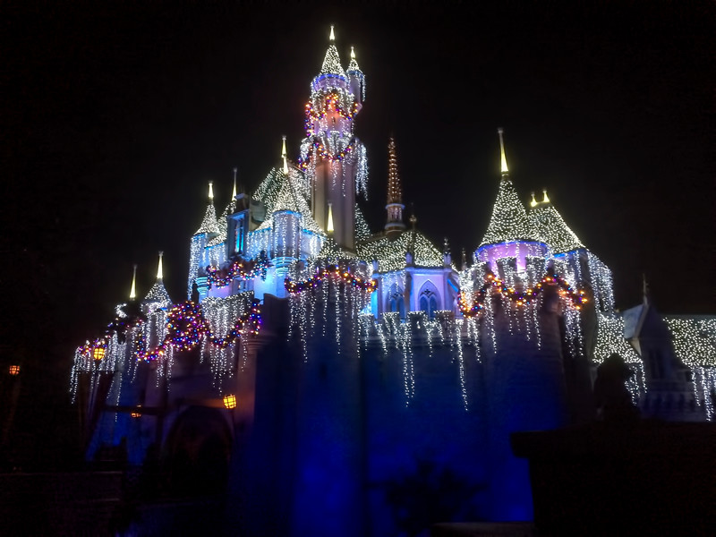 Disney Christmas Castle Night 2334