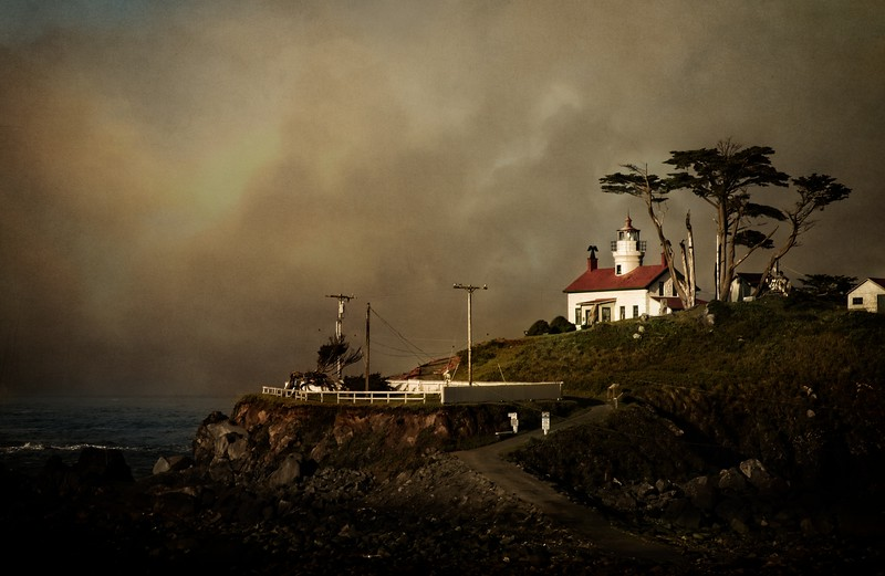 Battery Point Lighthouse, Crescent City.<br /> Photo © Cindy Clark