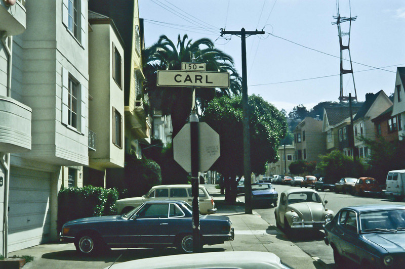 Though only four blocks long, Carl Street is one of the most prestigious addresses in San Francisco.<br /> Photo © Carl Clark