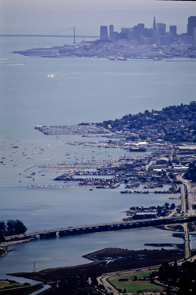 A fine view from Mt Tamalpais over Sausalito toward The City.<br /> Photo © Carl Clark