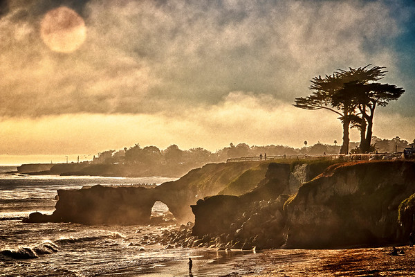 Foggy Afternoon on West Cliff Beach, Santa Cruz