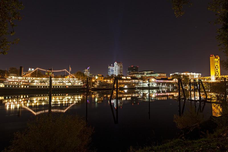 Sacramento Night Time Waterfront