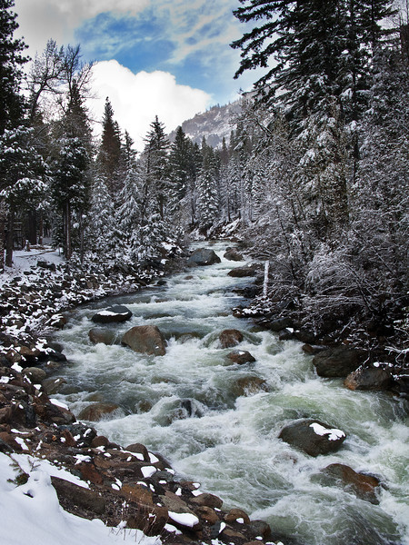 May Snow Storm on the Yuba River