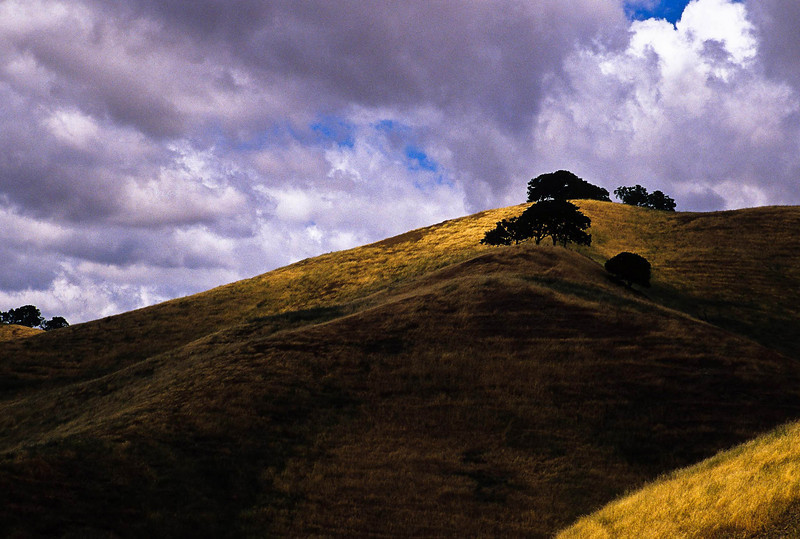 Light plays over the hills near Livermore.<br /> Photo © Cindy Clark