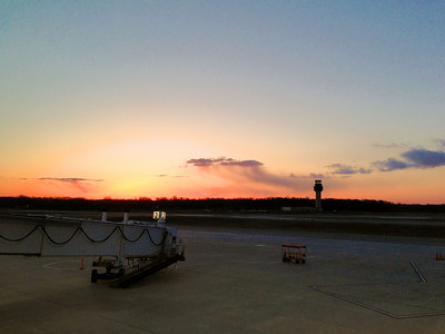 Early sunrise from the Kalamazoo Airport! (April 2013)