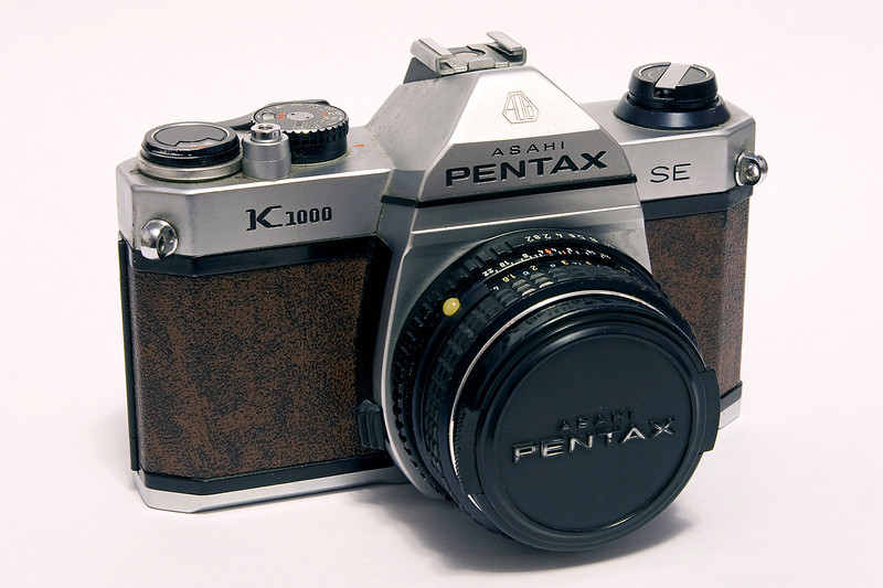 The Pentax K-1000 had been produced from 1976 to 1997 and was a real favorite as it was a real work horse - the K-1000 remains an excellent camera for student photographers. <br /> <br /> This is actually a K-1000 SE (Special Edition?). I could not find any information concerning the SE as far as when it was made but the best I could do is between 1976 and 1990 but would guess it was made early due to the SN (6035689).