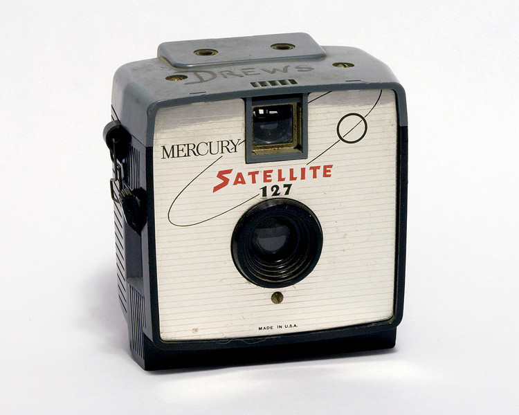 A Mercury Satellite camera (c 1964) took 127 film which is surprisengly still available. This camera was apparently once owned by a 'Pat Drews'.<br /> <br /> When I got it, it still had some film in it and I decided to develop it. The film was just too old to get anything off of it.