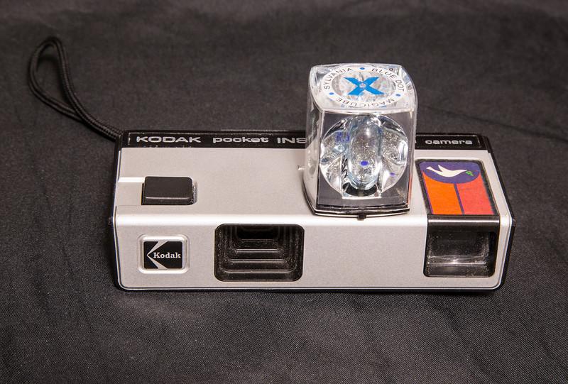 81 of 365 (Instamaitc)<br /> <br /> Kodak Instamatic 10 with flash cube. This little camerta takes 110 film