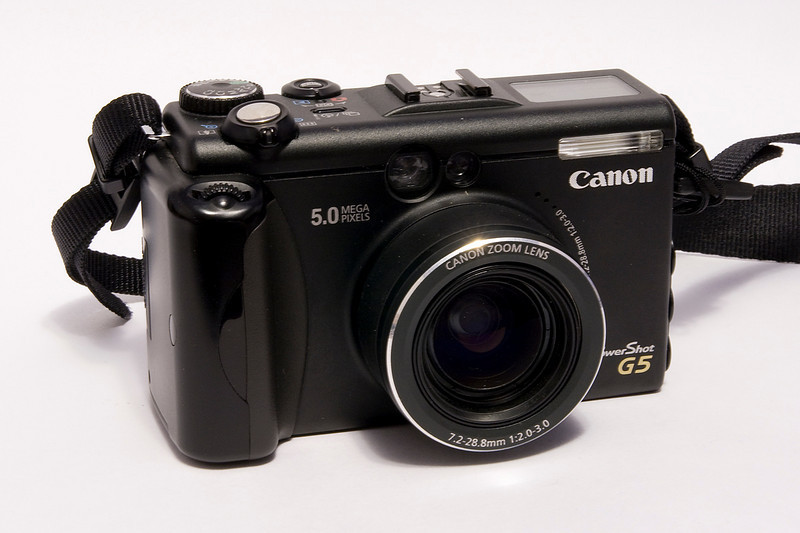 This Canon Powershot G5 (5 MP) digital camera was modified to shoot infra red photos - which is why I purchased it. Release date of 2003.