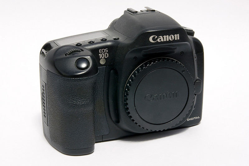 This Canon 10D (6.3 MP) was my first digital SLR and I am glad I ditched my first digital point n shoot and upgraded! Never looked back. The 10D was released in 2003.