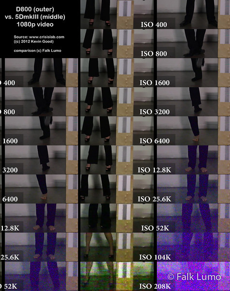 """ISO comparisonD800 vs. 5DmkIII 1080p video"" © 2012 Falk Lumo"