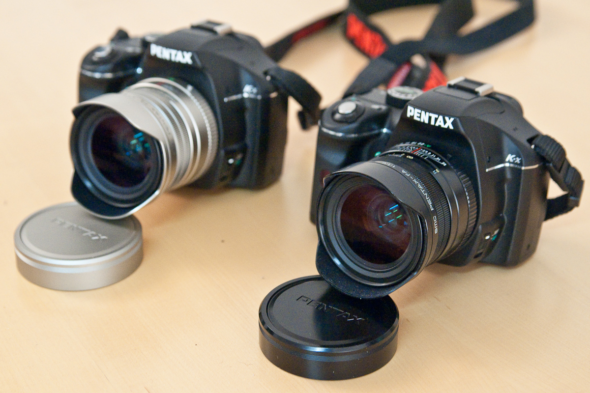 © Karsten Pawlik  Two test specimen, black Pentax K-x both with FA 31/1.8 Ltd., silver and black.