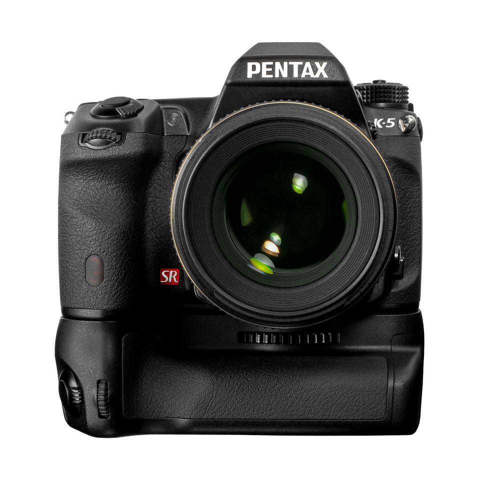 K-5 with grip (c) Pentax