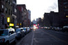 Sunset. Lower east side. NYC