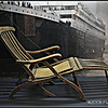 Deck chair recovered from the wreckage of the Titanic; Halifax, Nova Scotia, CA