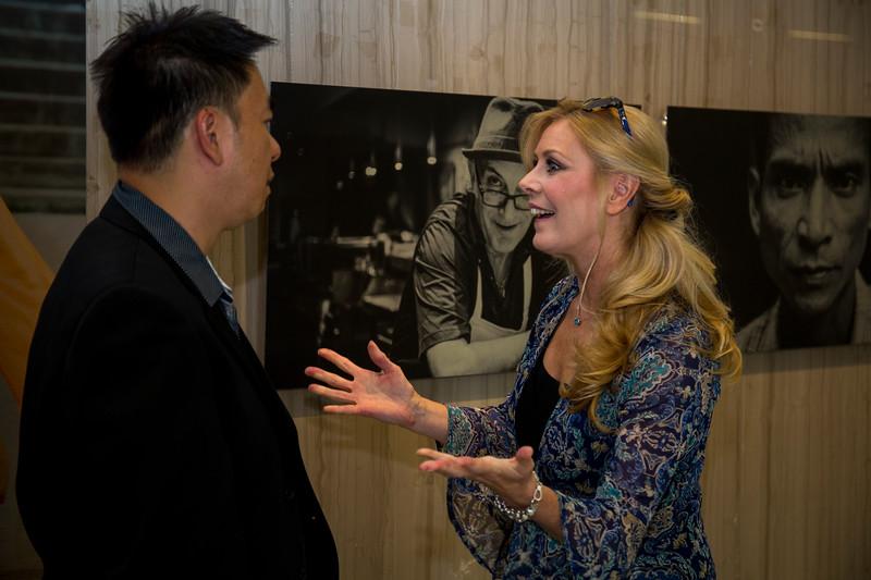 Sharon Gaum-Kuchar, Public Art Curator, City of Vaughan meeting Photographer Stephen Gurie Woo