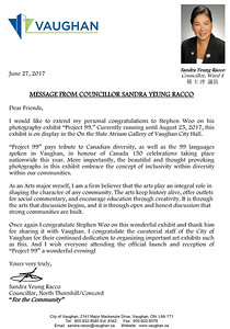 A message from the Councillor Sandra Yeung Racco for Stephen Woo