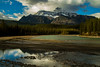 Mt Christie above the Athabasca River in the Canadian Rockies.<br /> Photo © Carl Clark