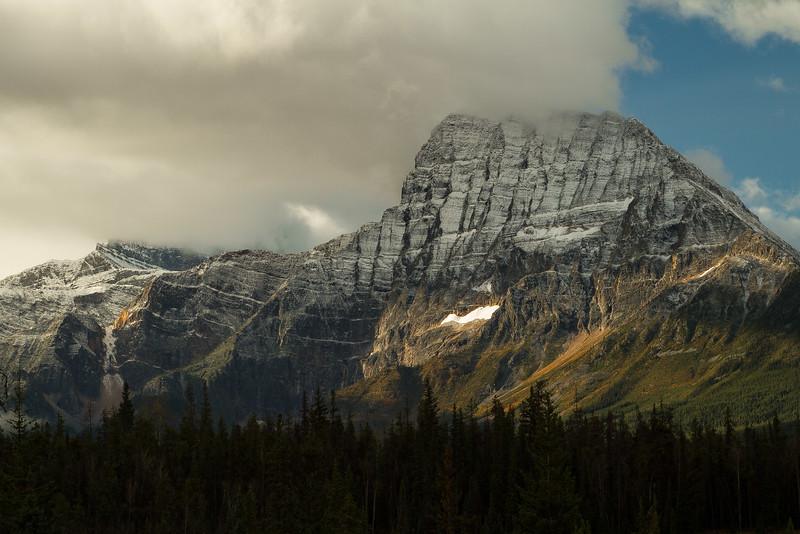 Mt Fryatt in the Canadian Rockies.<br /> Photo © Carl Clark