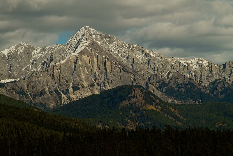 Mt Ishbel sporting new snow. Canadian Rockies.<br /> Photo © Carl Clark