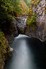 Lower Englishman River Falls near Coombs, nearly blocked by a newly dropped chockstone - Vancouver Island, BC.<br /> Photo © Carl Clark