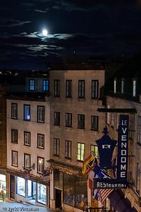 Quebec City Moon - Quebec City, Canada
