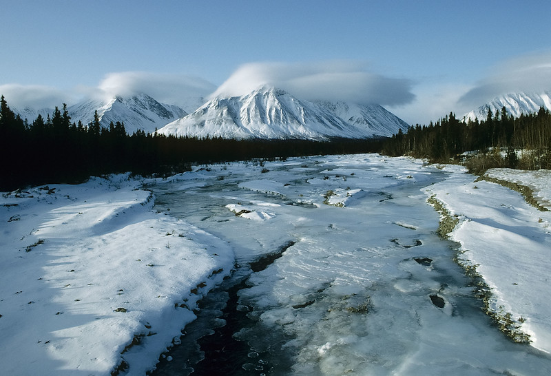 The onset of winter in Yukon Territory.<br /> Photo © Carl Clark
