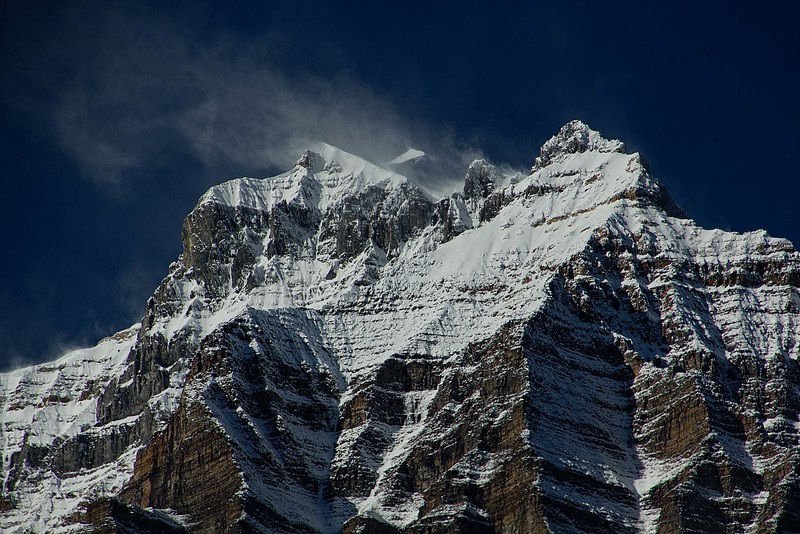 Magnificent Mt Temple in the Canadian Rockies.<br /> Photo © Carl Clark
