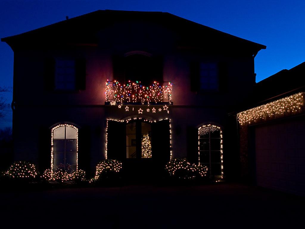 Christmas lights at Ski Side 2007