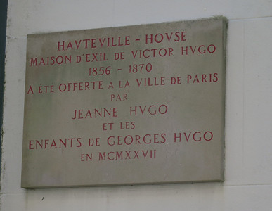 Hauteville House; home of Victor Hugo