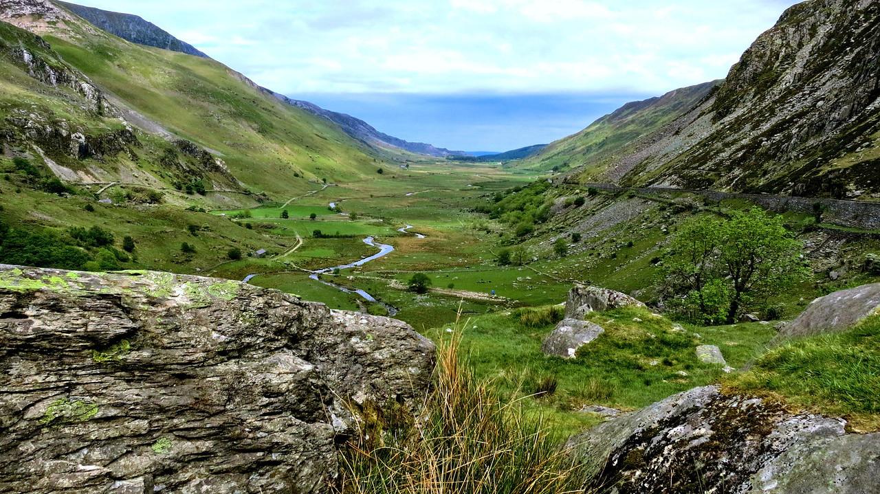 Glacier bowl in Snowdonia National Park
