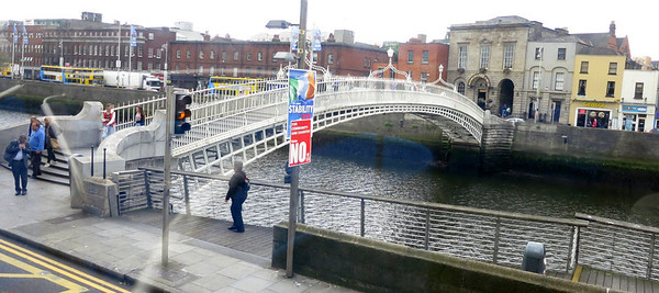 Ha'penny Bridge over the River Liffey