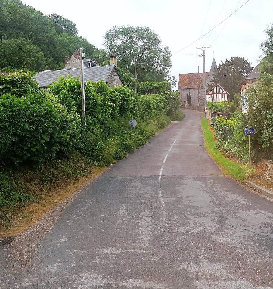 Country road in Normandy