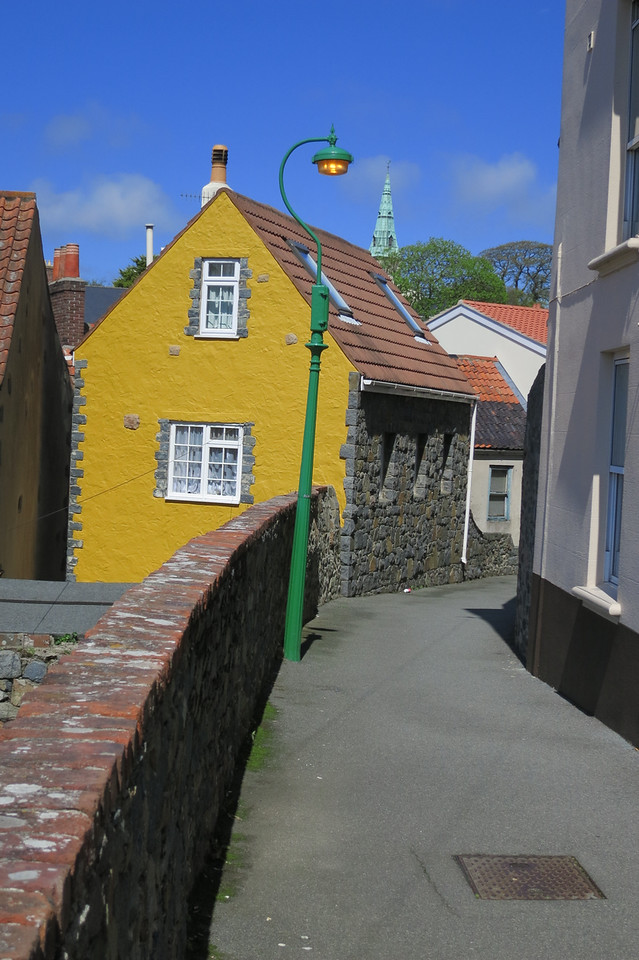 One of very few brightly painted houses