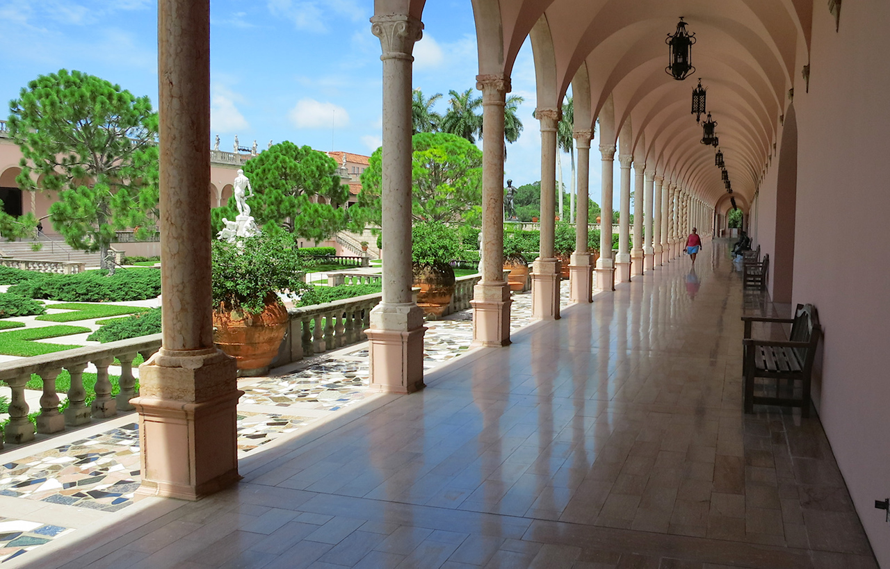 porch and columns of the Ringling Museum of Art