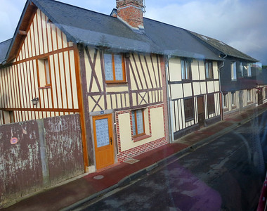 Typical Normandy architecture - half-timbered buildings