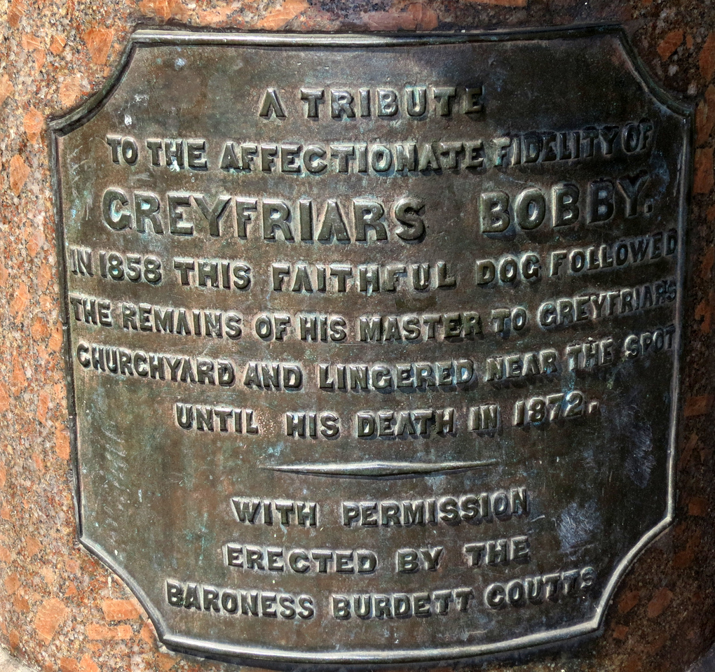 Greyfriars Bobby was a Skye Terrier who became known in 19th-century Edinburgh for spending 14 years guarding the grave of his owner, John Gray (Old Jock), until he died himself on 14 January 1872.