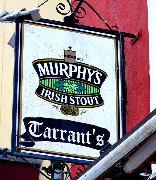 Colorful pub sign