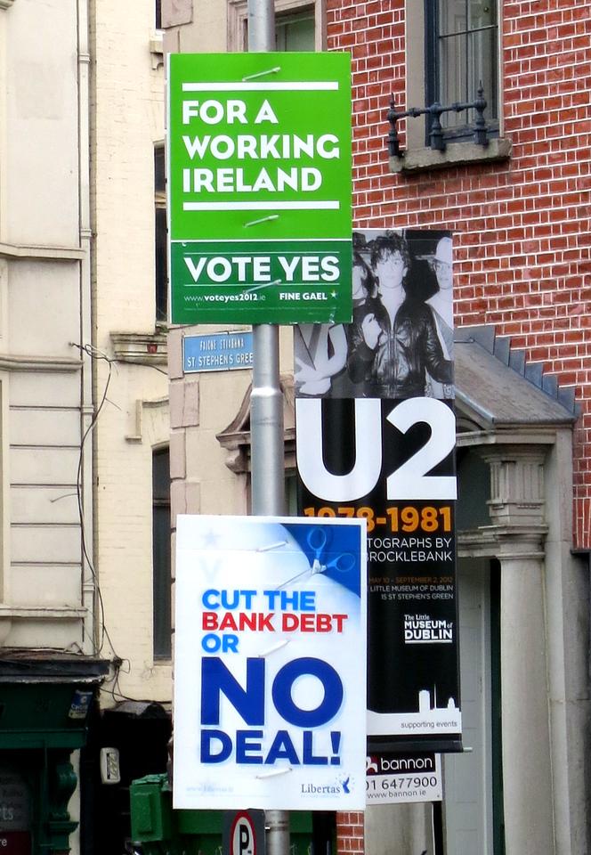 Referendum signs were everywhere