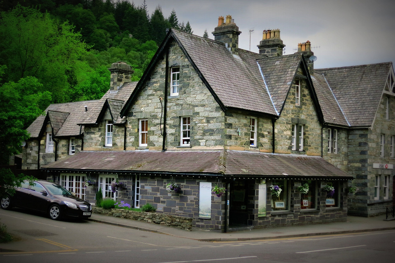 Typical architecture in Betws-y-coed, Wales