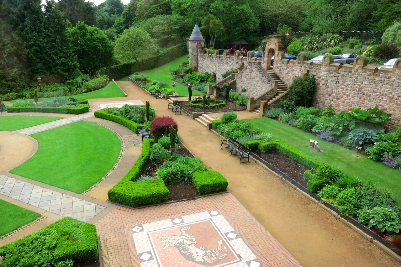 Formal gardens at the Castle